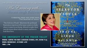 2012-10 UFV Poster-Shauna Singh Baldwin event