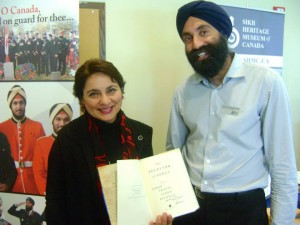 2014-10 KGM conference - signed book to Sikh Heritage Museum